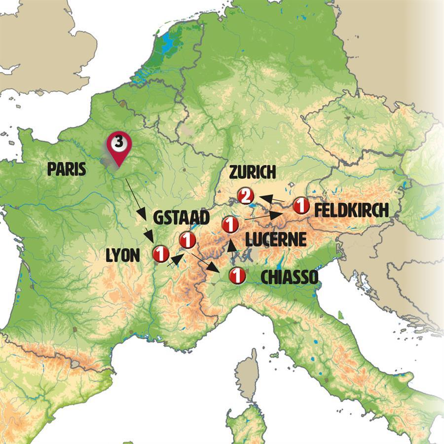 فرنسا وجبال الألب السويسرية
