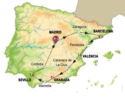 اجمل 11 يوم فى اسبانيا