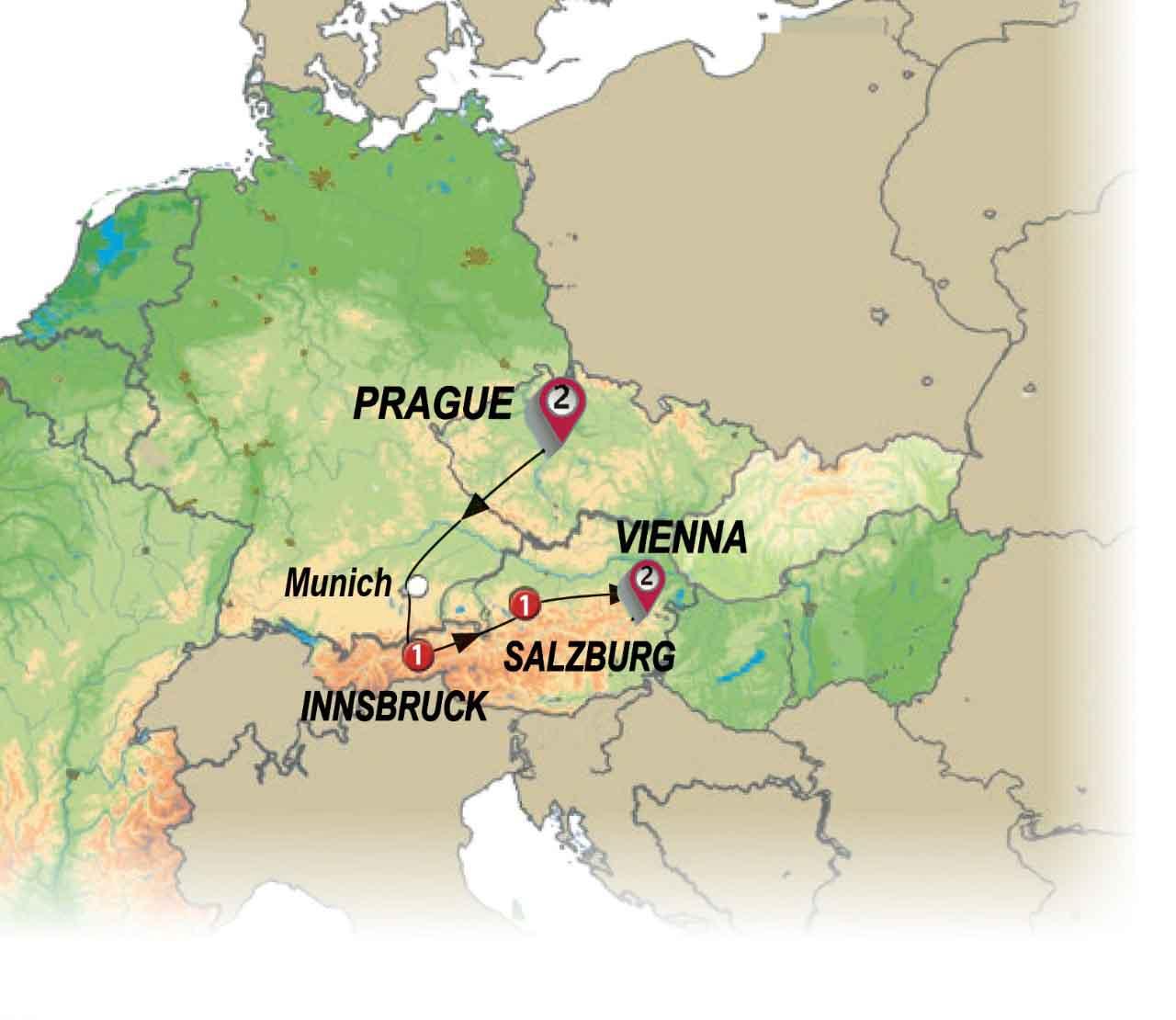 من براغ إلى فيينا
