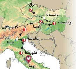 اوروبا من الغرب الى الشرق