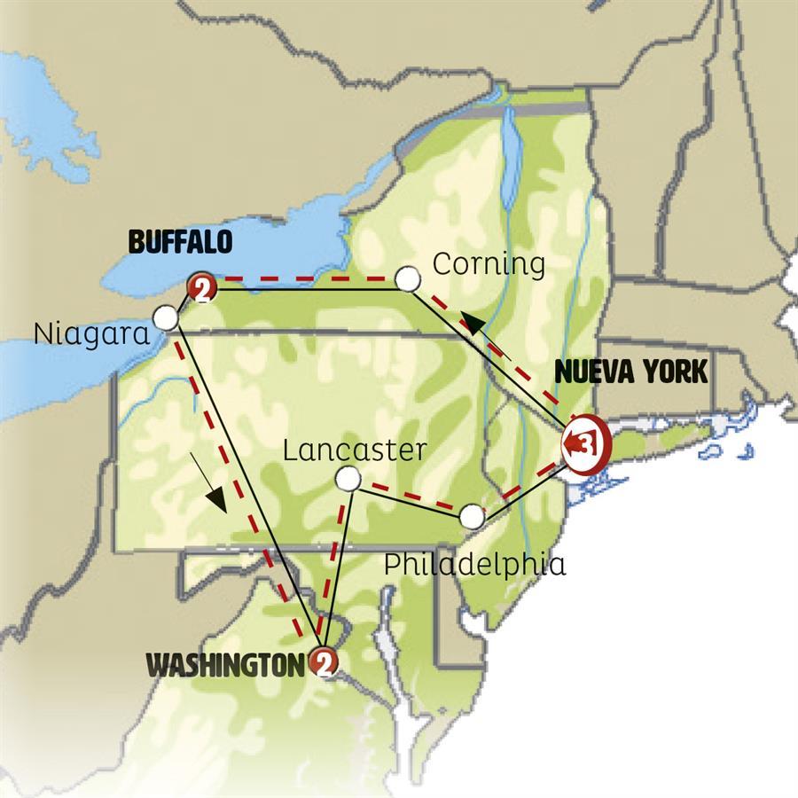 مثلث الشرق الامريكي مع نيويورك