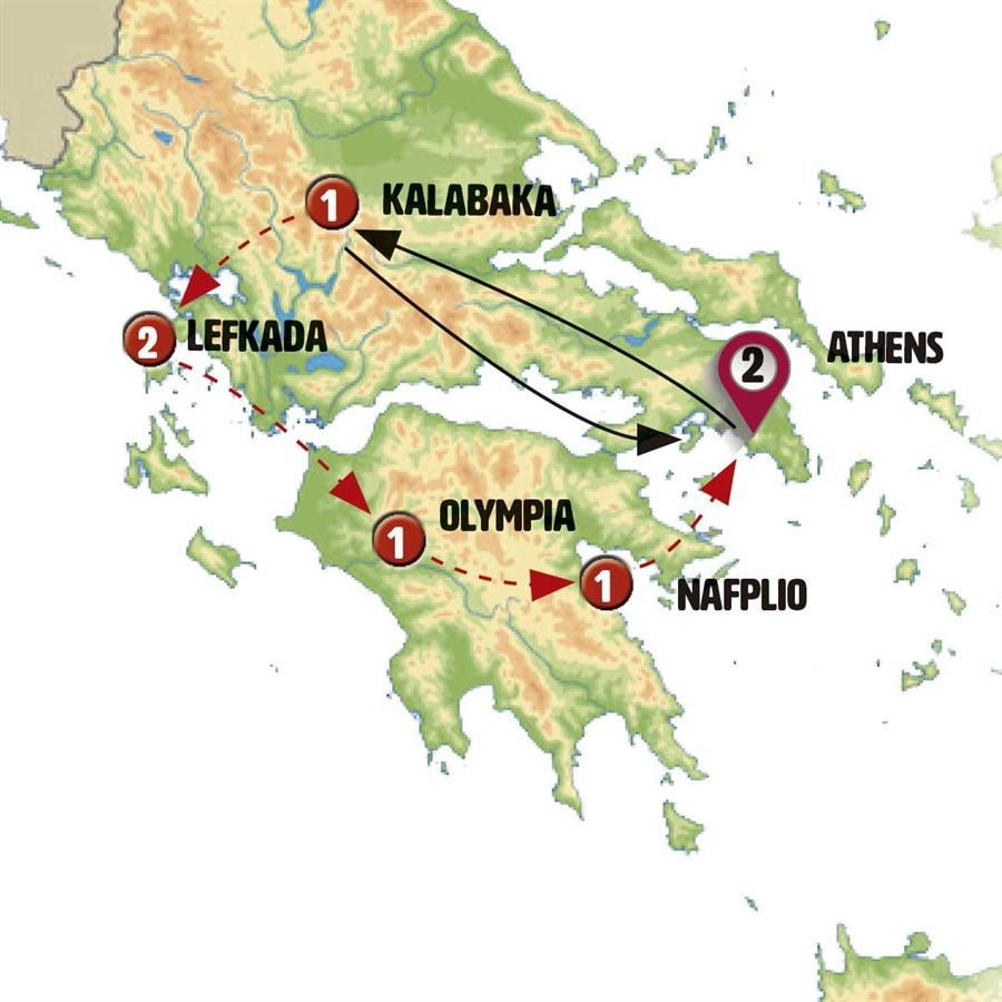 اجمل رحلات اليونان