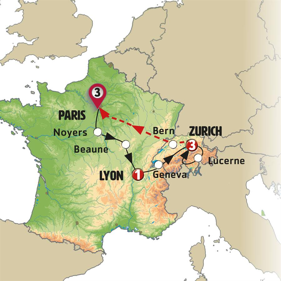 روح سويسرا وفرنسا 8 أيام