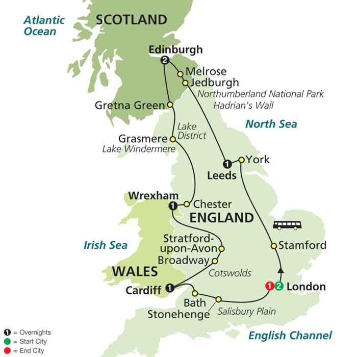جولة شاملة لأجمل المعالم السياحية في بريطانيا