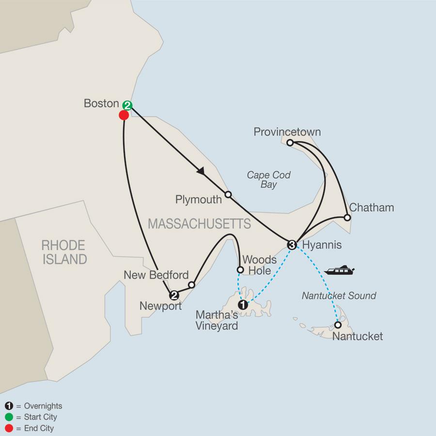 كيب كود والجزر المجاورة (ولاية ميساشوتس)