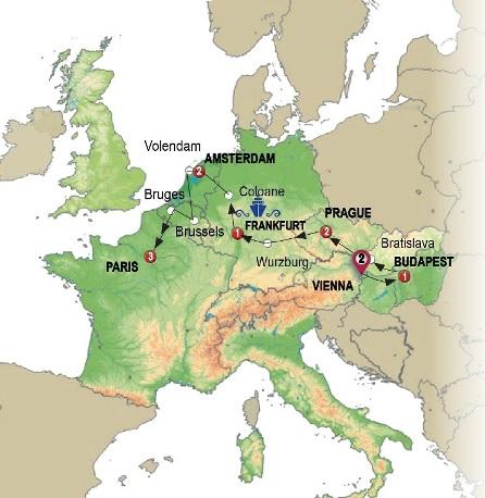 مدن شرق وغرب أوروبا