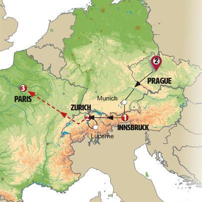 أكثر المدن شهرة في أوروبا