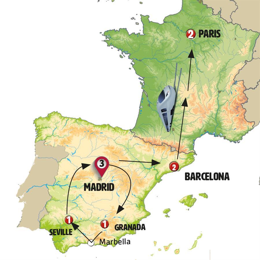 رحلة إلى إسبانيا الكلاسيكية مع باريس