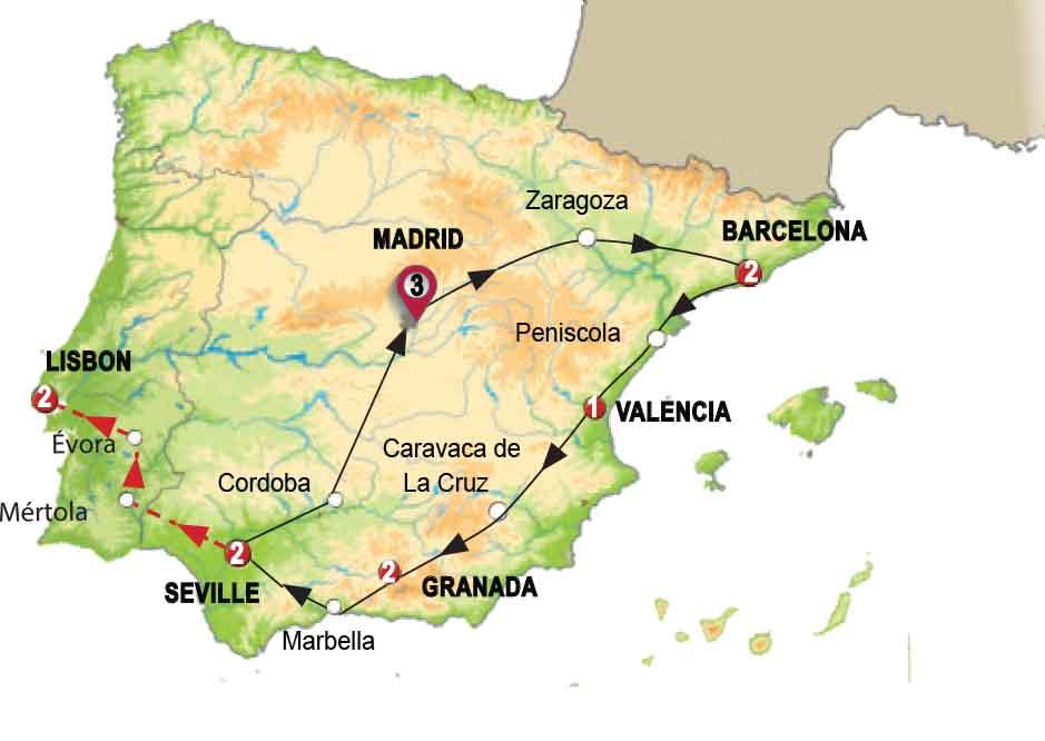 رحلة مُحبي إسبانيا والبرتغال
