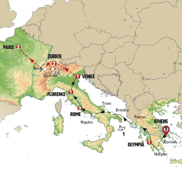 رحلة محبي الطبيعة والأثار الأوروبية