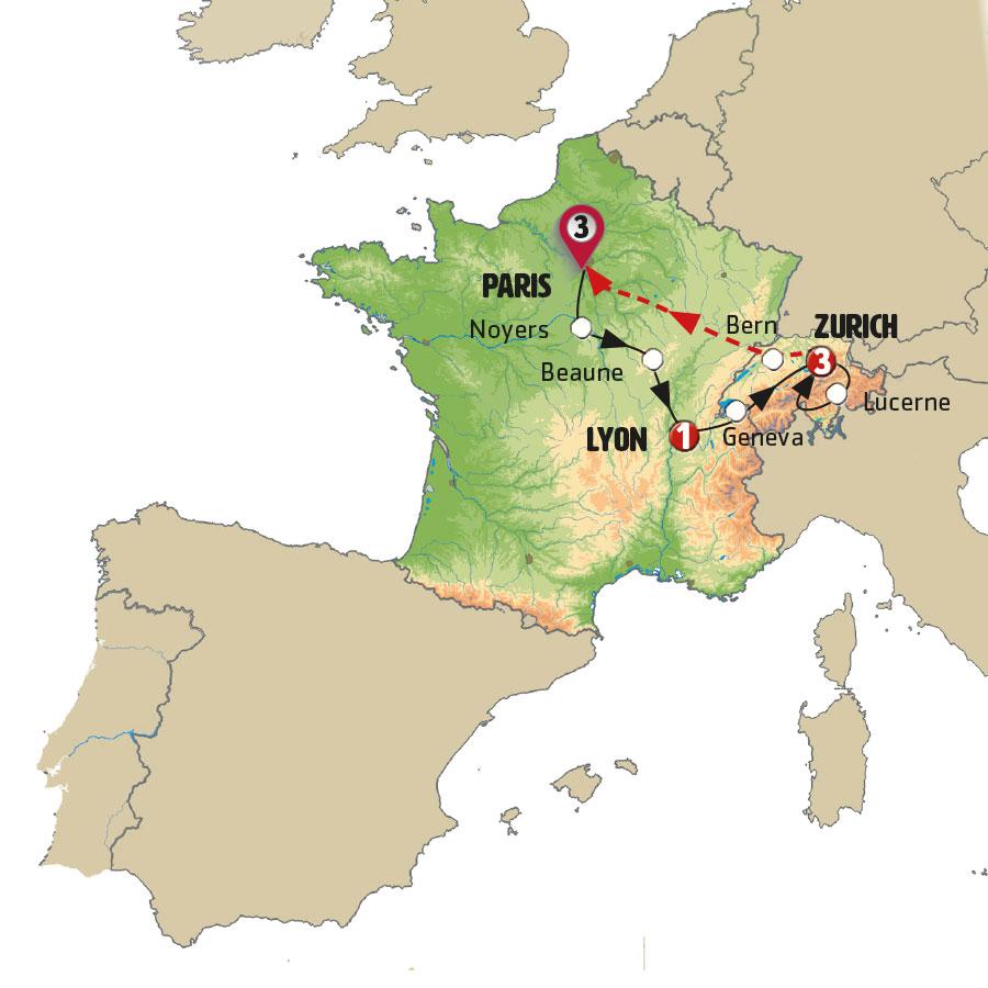 رحلة إلى فرنسا وسويسرا