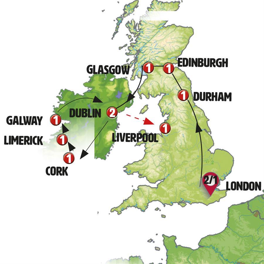 انجلترا, اسكتلندا و ايرلندا