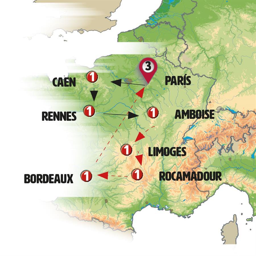 كل مدن فرنسا