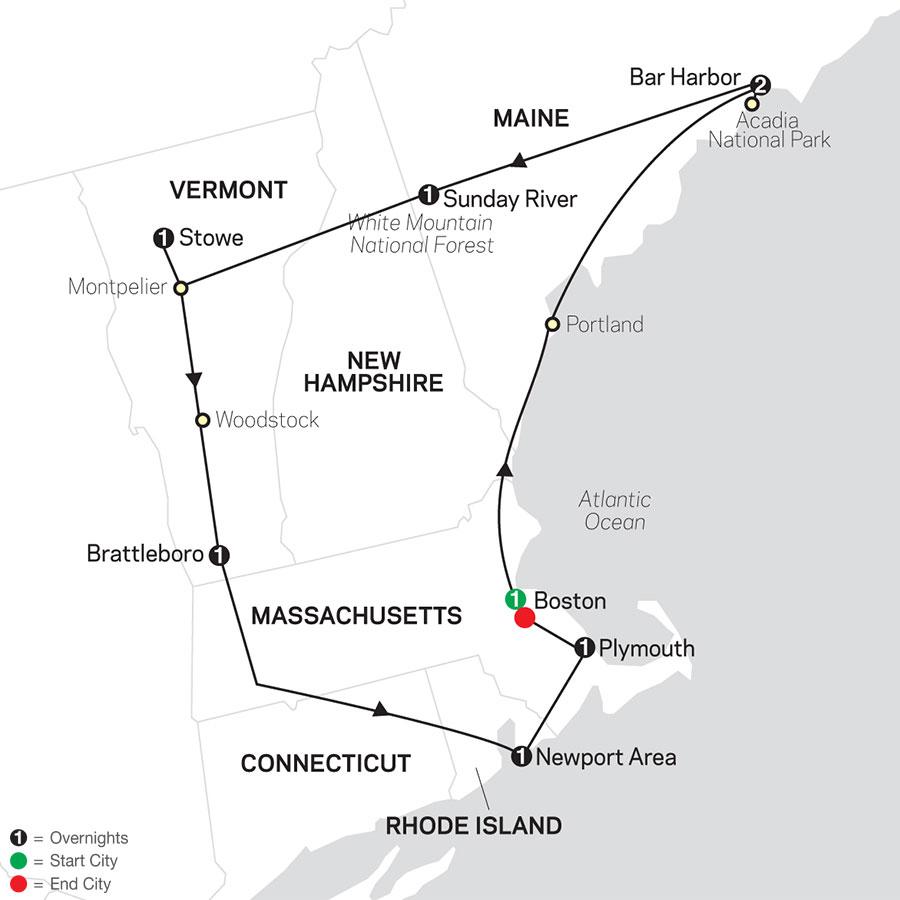 10 أيام للتعرف على أهم معالم نيو إنجلاند