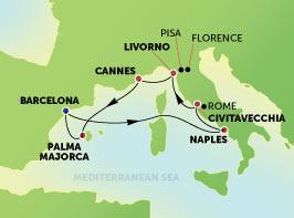 أروع 7 ليال حول مدن غرب البحر الأبيض المتوسط